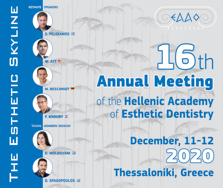 16th Annual Meeting of the Hellenic Academy of Esthetic Dentistry poster